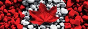 drapeau canadien cailloux